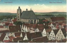 Deutschland (Germania) Ingolstadt, Blick Vom Pfeifturm, Scorcio Panoramico E Chiesa - Ingolstadt