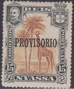 NYASSA 1903 D. CARLOS I - PROVISORIO -  GIRAFA  -  GIRAFE -  GIRAFFE Giraffa Camelopardalis