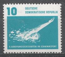 German Democratic Republic 1962. Scott #622 (MNH) Back Stroke Swimming * - [6] République Démocratique