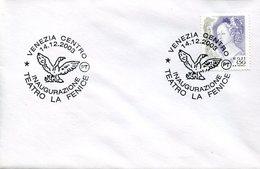 18105 Italia, Special Postymark Venezia 2001, Inaugurazione Teatro La Fenice - Autres