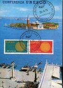 18111 Italia, Special Card And Postmark 1970 Venezia,  Unesco Conference, Fondazione Cini