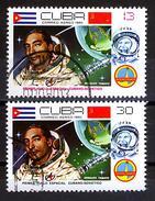CUBA 1980, SPACE, ARNALDO TAMAYO-The FIRST CUBAN COSMONAUT, COMPLETE USED SET, GOOD QUALITY - Cuba