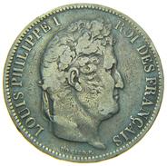 [NC] FRANCIA 5 FRANCS 1831 LOUIS PHILIPPE I ZECCA A AG SILVER (nc1420) - Francia