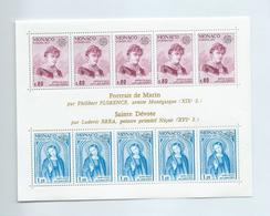 ZMONACOBn10 - MONACO 1975 - Très Joli Bloc-Timbres N°10(YT) Neuf** - EUROPA : Marin Et Sainte Dévote - Arte