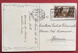 LA SPEZIA +TARGHETTA MOSTRA RIVOLUZIONARIA FASCISTA ROMA SU  30 C. CARTOLINA PER FORMIA IN DATA 22/12/32 - 1900-44 Vittorio Emanuele III