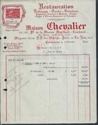 FACTURE ILLUSTRÉE DE 1935 MAISON CHEVALIER RESTAURATION SIÉGES ECT À COURBEVOIE - Petits Métiers