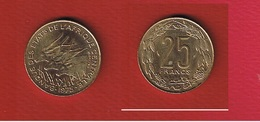 Afrique Centrale  --  25 Francs 1975  --  Km # 9  --  état  SUP - Congo (République 1960)