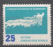 German Democratic Republic 1962. Scott #623 (MNH) Butterfly Stroke, Swimming * - [6] République Démocratique