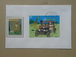 Kuifje - Tintin. BL 93 Op Zijde - BL93 Sur Soie. - FDC