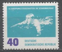 German Democratic Republic 1962. Scott #624 (MNH) Breast Stroke, Swimming * - [6] République Démocratique