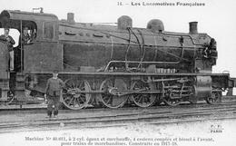 Les Locomotives Francaises   -  Machine No 40,011  -  Fleury Serie #14 - CPA - Trains