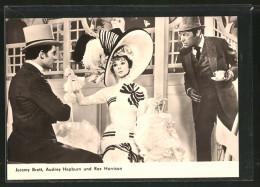 "CPA Acteur De Cinéma Jeremy Brett, Audrey Hepburn Et Rex Harrison In ""My Fair Lady"" - Schauspieler"