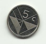 1990 - Aruba 5 Cents, - Altri – America