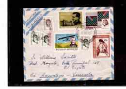 "TEM8770    -  POSTAL HISTORY    ""  ARGENTINA  ""  /     REGISTERED   AIR MAIL    LETTER  TO   VENEZUE     ON    15.6.1972 - Storia Postale"