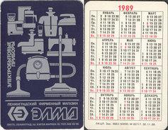USSR. 1989. Iron. Fer à Repasser. Sewing Machine. Vacuum Cleaner - Calendriers