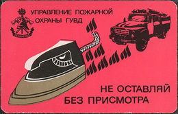 USSR. 1991. Iron. Fer à Repasser. Fire Safety - Calendriers