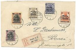 Briefstuk Mit R-zettel Posen - 1919-1939 Republik