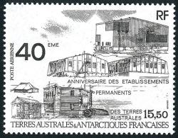 TAAF 1989 - Yv. PA 104 ** TB  Faciale= 2,36 EUR - 40e Anniv. Des établissements Permanents ..Réf.TAF20532 - Poste Aérienne