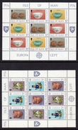 GB ISLE OF MAN IOM - 1976 EUROPA CEPT CELTIC SCULPTURE SHEETLETS (2) FINE MNH ** - Europa-CEPT