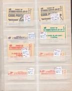 France, Lot De 64 Carnets D'usage Courant, Dans Classeur Vert , Cote 1120€; - Carnets