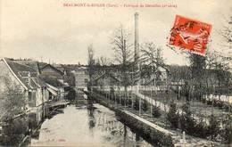 CPA - BEAUMONT-le-ROGER (27) - Aspect Du Quartier De La Fabrique De Dentelles En 1914 - Beaumont-le-Roger