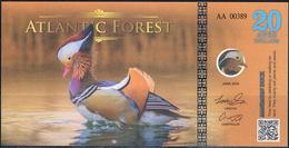 ATLANTIC Forest  20  Aves Dollars 2016 Oiseaux Birds Canards Ducks UNC - Specimen