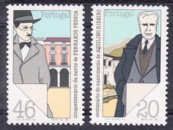 PORTUGAL 1985.PERSONAJES DE LAS ARTES Y LAS LETRAS DE PORTUGAL  .AFINSA. Nº 1734/35  NUEVO  SIN CHARNELA .SES462GRANDE - 1910-... República