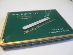 Boite En Fer Vide/Cigarettes/ MACDONALDS/Virginia Leaf/Canada /Vers1960-80     BFPP97 - Around Cigarettes