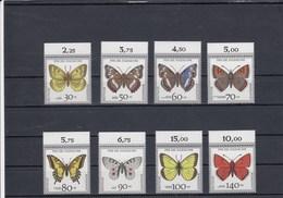 Allemagne Fédérale - Papillons Divers - Neufs** - Année 1991 - Y.T. N° 1344/1351 - Nuovi