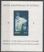 German Democratic Republic 1962. Scott #630 (MNH) Pavel R. Popovich, Adrian G. Nikolayev And Space Capsules * - [6] République Démocratique