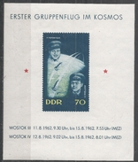German Democratic Republic 1962. Scott #630 (MNH) Pavel R. Popovich, Adrian G. Nikolayev And Space Capsules * - Unused Stamps