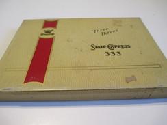 Boite En Fer Vide/Cigarettes/State Express 333/ Adarth Tobacco/Canada /Vers1960-80     BFPP98 - Around Cigarettes