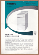 AC - PHILIPS HA 2900 F DRUM TYPE WASHING MACHINE SPECIFICATION SHEET - Netherlands