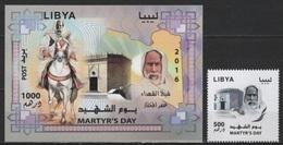 Libya (2016) - Set + Block -  /  Martyrs Day - Horse - Pferde - Chevaux - Caballo