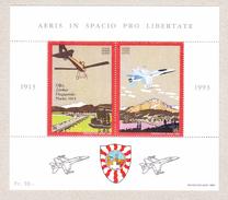 Schweiz Bloc Vignette 1913-1993 AERIS IN SPACIO PRO LIBERTATE ** - Poste Aérienne