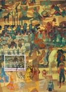 "1974 Naciones Unidas. Tarjeta Maxima. ""Paz"" Pintura Mural Pintado Por Candido Portinari - Modern"