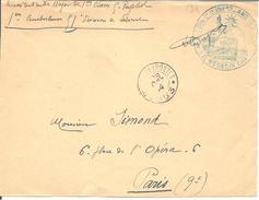 Bureau De Payeur N° 153 Du 28/10/14  35é Don D'Infanterie De Reserve Pour Paris (devant De Lettre) - Postmark Collection (Covers)
