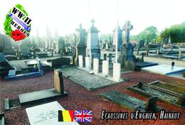 Carte Postale, Militaria, Cemetery, World War II Cemeteries, Belgium (Hainaut), Ecaussines D'Enghien Communal Cemetery - War Cemeteries