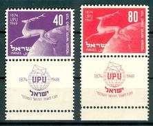 Israel - 1950, Michel/Philex No. : 28/29, - MNH - Full Tab - - Israël