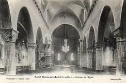 CPA - SAINT-DENIS-sur-LOIRE (41) - Aspect De L'intérieur De L'Eglise Au Début Du Siècle - France