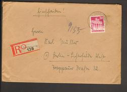 Bizone 80 Pfg Bauten Wg A.Einschreiben-Ferndoppelbrief Aus Barum (Braunschw) Vom 24.11.1948, 2 Ankunftstempel - Bizone