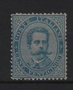 1879 25 C. Azzurro Umberto I Firmato Diena +++