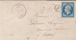 LETTRE.  3 OCT 58 .   SEINE ET MARNE  REBAIS  2634.   BOITE RURALE  =    F    /  57 - Marcophilie (Lettres)