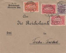 Allemagne Lettre Inflation Oberstein 1923 - Lettere