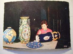 CERAMIQUE / FINITION DE PIECES UNIQUES EN EMAUX DE LONGWY / JOLIE CARTE PHOTO / 1968 /LA CIGOGNE - Artisanat