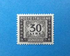 1961 ITALIA FRANCOBOLLO NUOVO STAMP NEW MNH** - SEGNATASSE DA 30 LIRE - - 6. 1946-.. Repubblica