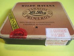 Boite En Fer Vide/Cigare/La PAZ/ Wilde Havana/ Pays Bas/Nuit Gravement à La Santé /Vers 1980-90     BFPP113 - Around Cigars