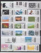 """20 Vignettes Illustrées Oblitérées - Timbres Internet . """"Mon Timbre En Ligne Illustré"""" - Lettre Verte Sans Prix Indiqué. - 2010-... Geïllustreerde Frankeervignetten"""