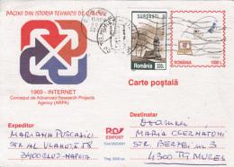 55453- INTERNET, COMPUTERS, POSTCARD STATIONERY, 2001, ROMANIA