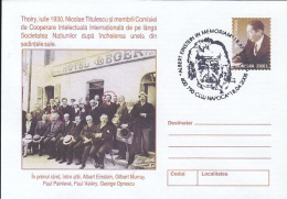 55556- ALBERT EINSTEIN, SCIENTIST, FAMOUS PEOPLE, COVER STATIONERY, 2005, ROMANIA